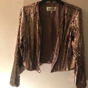 BB Dakota Bronze Sequin Blazer